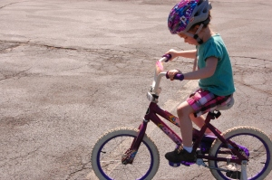 """""""best birthday present EVER"""" she said about her bike"""