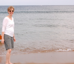 Me, happy to be at the ocean