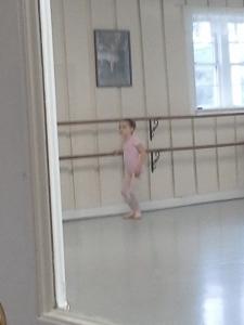 Joy's first ballet lesson
