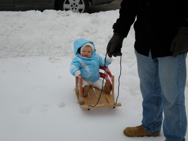 Baby Joy, a little over a year old. SO HAPPY TO BE IN THE SNOW.